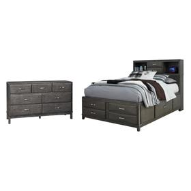 Full Storage Bed With 7 Storage Drawers With Dresser