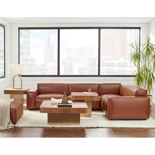 Olafur Upholstered 3-piece Modular Loveseat in Caramel by A.R.T. Furniture
