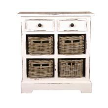Storage Cabinet - Distressed White