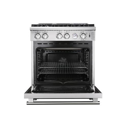 "Forno 30"" Stainless Steel Gas Range with 4 Burners"
