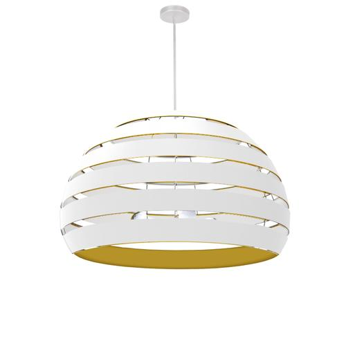 Product Image - 4lt Chandelier Mw, Wh/gld Shade