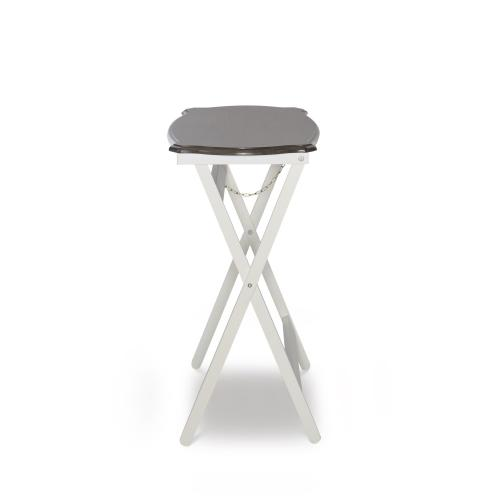 Folding Buffet Table, Grey and White
