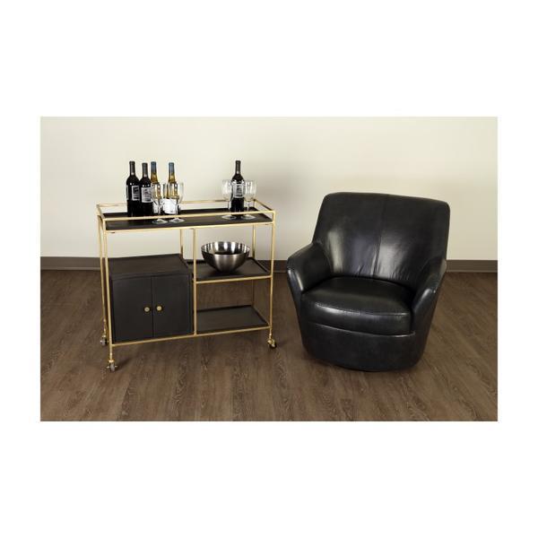See Details - Hayes Dark Gray Swivel Chair, AC963