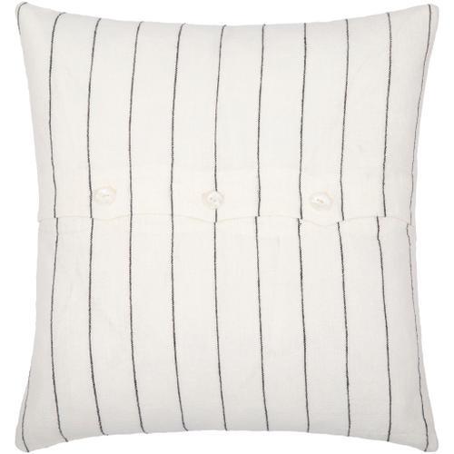 "Surya - Linen Stripe Buttoned LNB-001 20""H x 20""W"