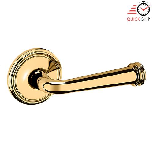 Baldwin - Non-Lacquered Brass 5116 Estate Lever with 5070 Rose