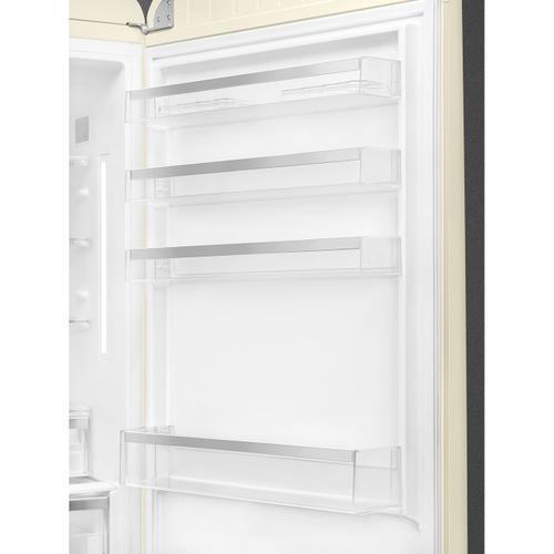 18 cu. ft. retro-style fridge, Cream, Right-hand hinge