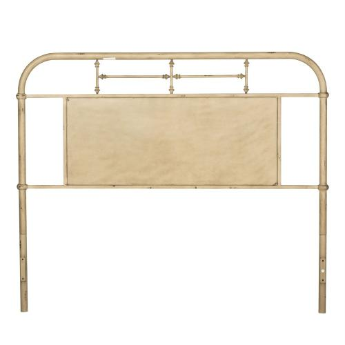 Queen Metal Headboard - Vintage Cream
