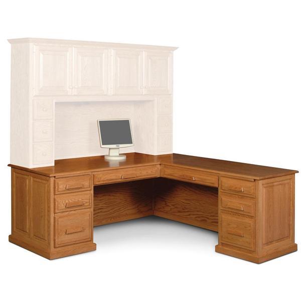 See Details - Classic L-Shape Desk, Plain Back, Left Return