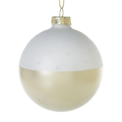 """Accent Decor - Stargaze Ornament (Size:3"""", Color:White)"""