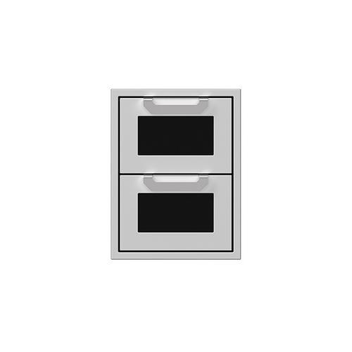 "Hestan - 16"" Hestan Outdoor Double Storage Drawers - AGDR Series - Stealth"