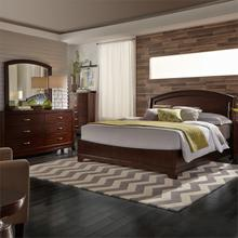 King Panel Bed, Dresser & Mirror
