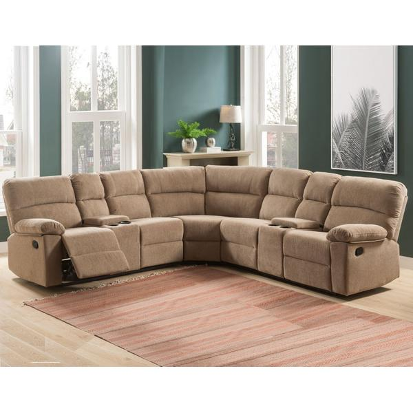 Conan Latte Grey 3-Piece Reclining Sectional