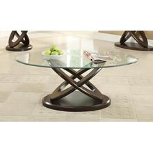Occasional Casual Espresso Coffee Table