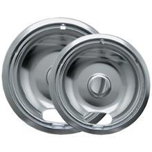 Chrome Drip Pans, 2 pk (Style A)