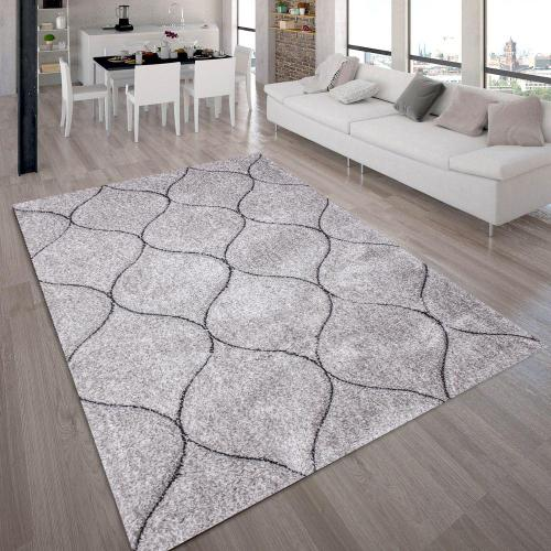 "Sorrento 720 Shag Area Rug by Rug Factory Plus - 7'6"" x 10'3"" / Silver"