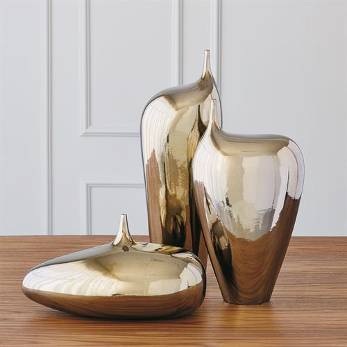 Offset Neck Object-Bronze Crackle-Sm