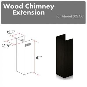 """Zline KitchenZLINE 61"""" Wooden Chimney Extension for Ceilings up to 12.5 ft. (321CC-E)"""