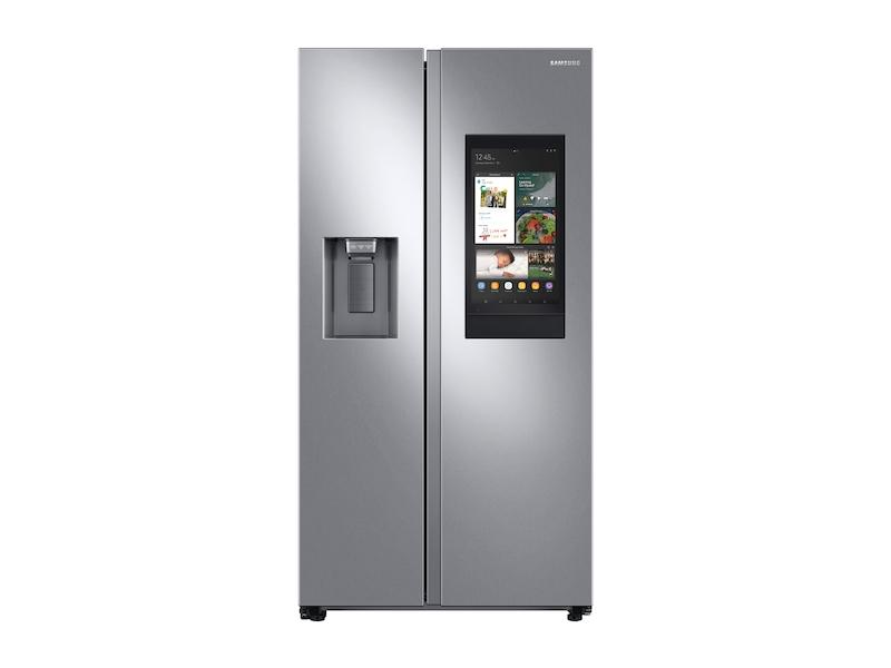 Samsung26.7 Cu. Ft. Large Capacity Side-By-Side Refrigerator With Touch Screen Family Hub™ In Stainless Steel