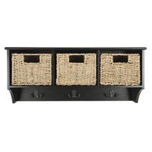 See Details - Finley Hanging 3 Basket Wall Rack - Black