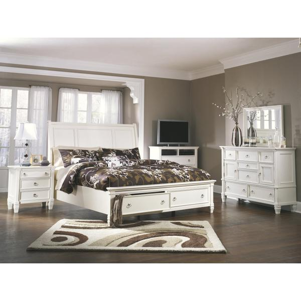 Prentice Queen Sleigh Bed With 2 Storage Drawers