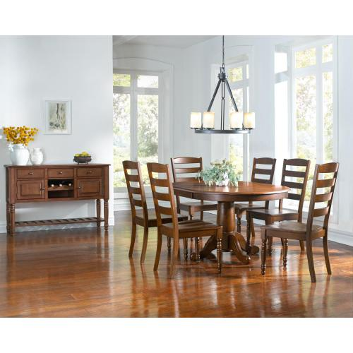 A America - Oval Extension Pedestal Table