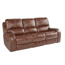 Keily Manual Glider Reclining Sofa w/Dropdown Table, Brown