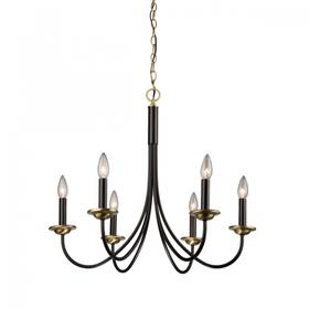 Wrought Iron AC1786VB Chandelier