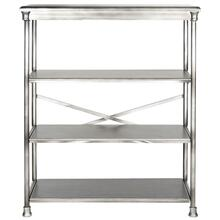 See Details - Jamison Large Bookcase - Dark Silver