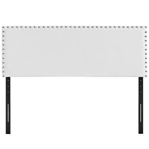 Phoebe Full Upholstered Vinyl Headboard in White