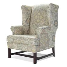 See Details - High Back Chair with Cherry Chippendale Base