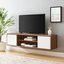 "Envision 60"" Wall Mount TV Stand in Walnut White"