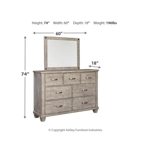 Naydell Dresser and Mirror