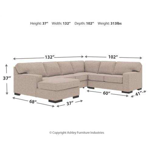 Ashlor Nuvella® 4-piece Sectional With Chaise