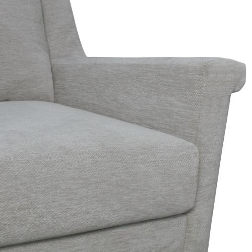 Product Image - Winston KD Fabric Accent Arm Chair Gold Legs, Halle Linen
