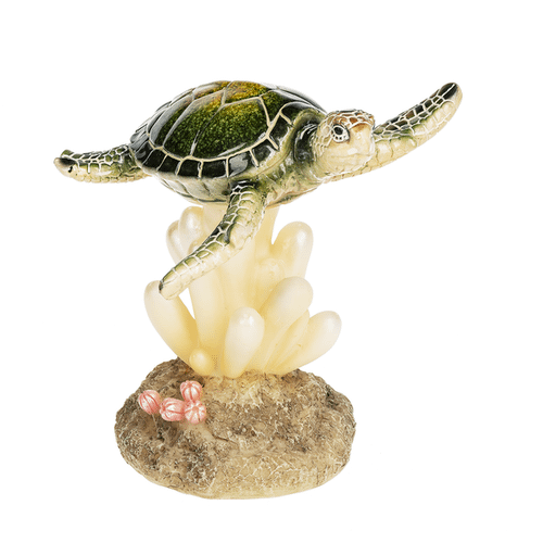 LED Light Up Turtle on Coral