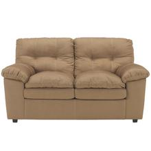 Signature Design by Ashley Mercer Loveseat in Mocha Fabric