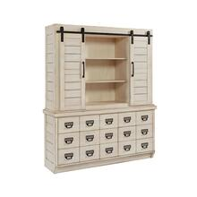 HUTCH,ARCHIVE ANTIQUE WHITE