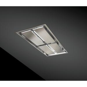 Best63-inch Brushed Stainless Steel Ceiling Mounted Range Hood with LED Light. Choice of external blowers sold separately (CC34-63 Series)