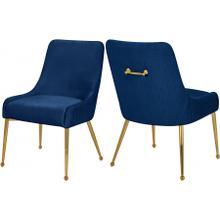 "Ace Velvet Dining Chair - 24"" W x 21"" D x 34.5"" H"