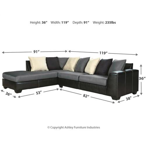 Jacurso 2-piece Sectional With Chaise
