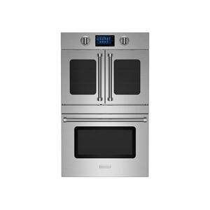 """Bluestar30"""" Double Electric Wall Oven with French & Drop Down Doors"""