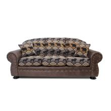 Arizona Two-tone Sofa In Rustic Animal Print