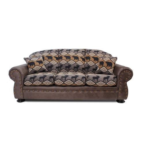 Intermountain Furniture - Arizona Two-tone Sofa In Rustic Animal Print