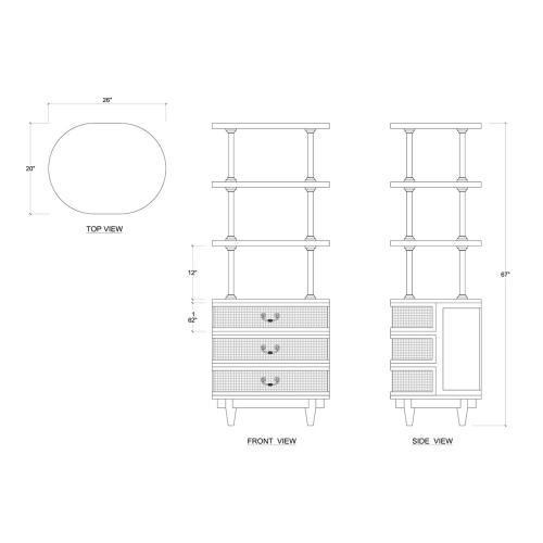 Bramble - Cangu Shelves w/ Drawers