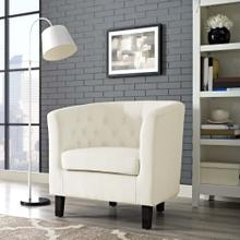 Prospect Performance Velvet Armchair in Ivory