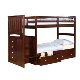 Twin/Twin Mission Stairway Bunkbed