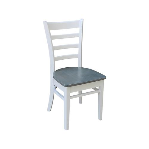 Emily Chair in White & Gray