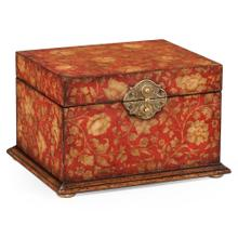 Red Chinoiserie Jewellery Box
