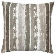 Murray Contemporary Decorative Feather and Down Throw Pillow In Stone Jacquard Fabric