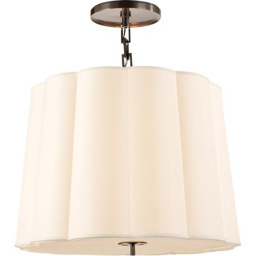 Visual Comfort BBL5015BZ-S Barbara Barry Simple 5 Light 25 inch Bronze Hanging Shade Ceiling Light